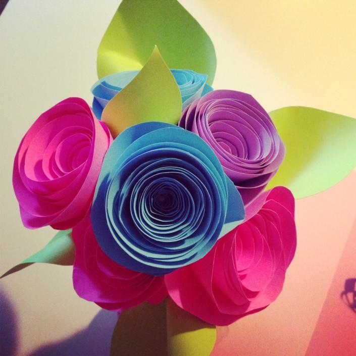 Paper Swirl Roses