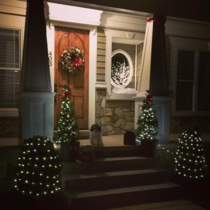 Home Christmas outside